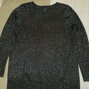 Black Sweater w/ Silver threading throughout.